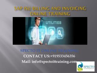 Sap isu billing and invoicing online training in canada