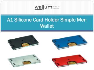 A1 Silicone Card Holder Simple Men Wallet