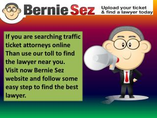 online traffic tickets-- Bernie Sez