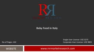 Italy Baby Food Industry Expected to See Growth Report