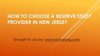 How To Choose A Reserve Study Provider In New Jersey