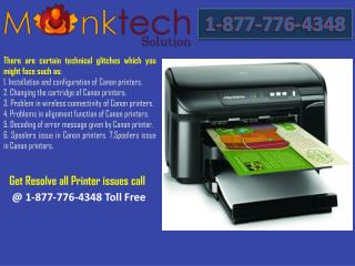 Resolve canon issues @ 1-877-776-4348 canon printer support number