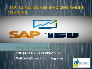 Best sap isu billing and invoicing online training