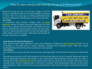 How to save money and time by Hiring Junk Removal NJ?