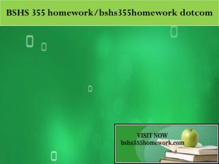 BSHS 355 homework peer educator / bshs355homework