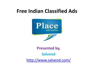 Free Indian Classified Ads