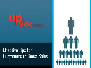 Effective tips for customers to boost sale.