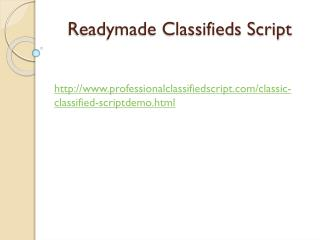 Readymade Classifieds Script