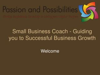 Small Business Coach - Guiding you to Successful Business Growth