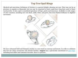 Top Ten Opal Rings