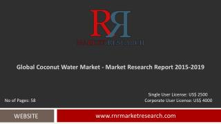 Coconut Water Market 2015 – 2019: Worldwide Forecasts and Analysis