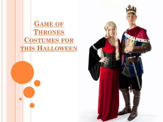 Game of thrones costumes for this halloween