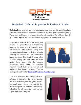 Basketball Uniforms Manufacturers | Custom Team Uniform Suppliers