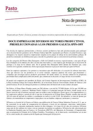 Pastor y Gciencia premian a las mejores iniciativas empresariales de las universidades gallegas