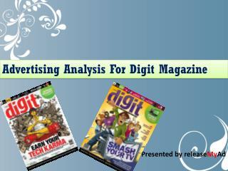 Advertising analysis on Digit Magazine