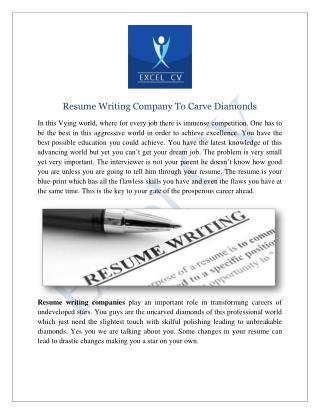 Resume Writing Company | Resume Writing Services India