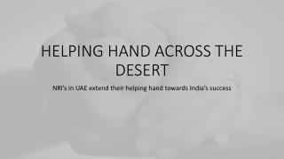 Helping hand across the desert