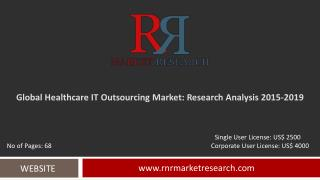 Healthcare IT Outsourcing Market 2015 � 2019: Worldwide Forecasts and Analysis