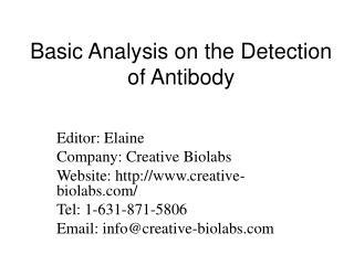 Basic Analysis on the Detection of Antibody