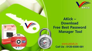 AKick -Get Free Password Manager Software