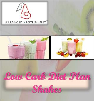 Low Carb Diet Plan Shakes