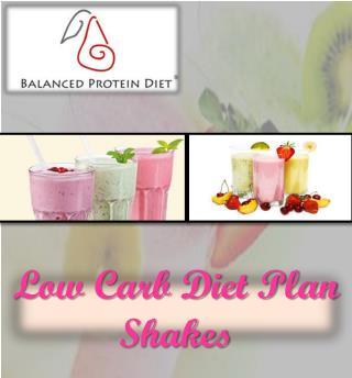 Low Carb Diet Plan Shakes