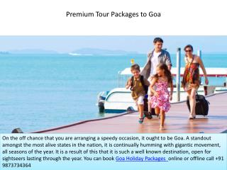 Premium Tour Packages to Goa