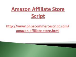 Amazon Affiliate Store Script