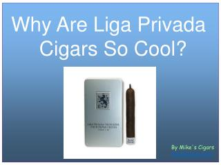 Why Are Liga Privada Cigars So Cool?