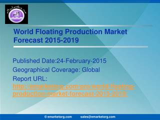 Floating Production Market Yearly Installations Projected Elevation of $21bn in 2017 Report