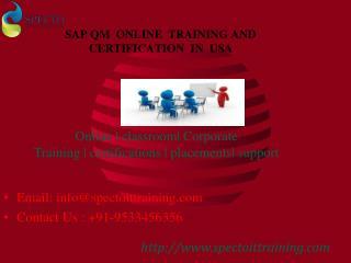sap qm online training in usa
