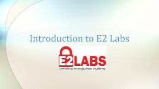 Introduction to E2 Labs