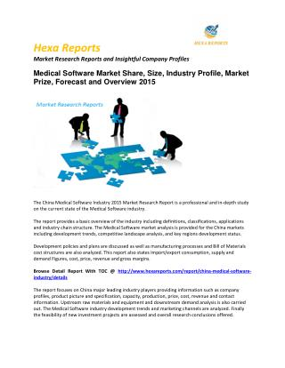 Medical Software  market, Growth and Price  Analysis  and  Forecast  2015