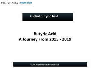 Global Butyric Acid Market worth $289.3 Million by 2020