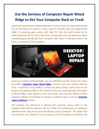 Use the Services of Computer Repair Wood Ridge to Get Your Computer Back on Track