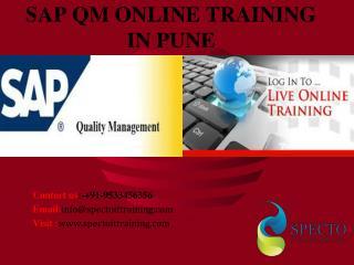 sap qm online training in pune