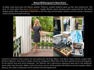 Reese Witherspoon's New Store