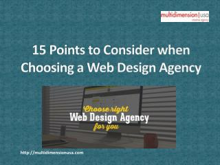 15 Points to Consider when Choosing a Web Design Agency