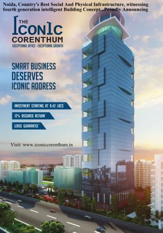 the iconic corenthum noida brochure and information bulletin
