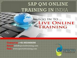 sap qm online training in india