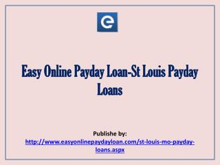 St Louis Payday Loans