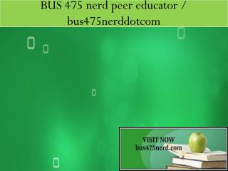 BUS 475 nerd peer educator / bus475nerddotcom