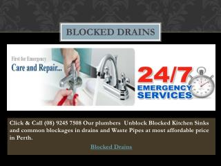 Blocked Drains