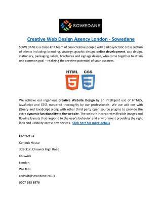 Creative Web Design Agency London - Sowedane