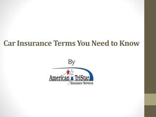 Car Insurance Terms You Need to Know