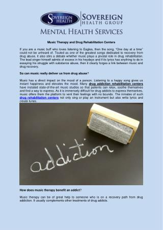 Music Therapy and Drug Rehabilitation Centers