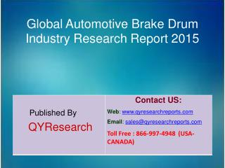 Global Automotive Brake Drum  Market 2015 Industry Development, Research, Trends, Analysis  and Growth