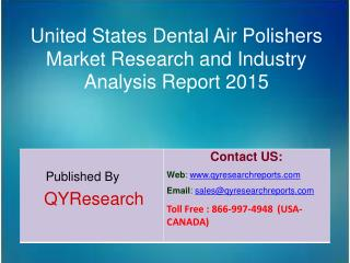 United States Dental Air Polishers Market 2015 Industry Study, Trends, Development, Growth, Overview, Insights and Outlo