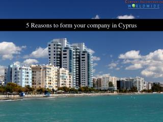 5 Reasons to form your company in Cyprus