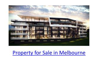 property for sale in Melbourne
